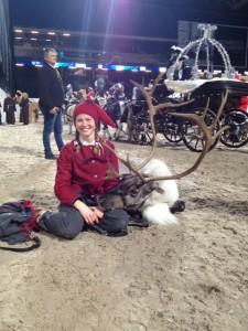 Rudolf vilar upp sig inför den stora julparaden.