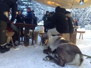 Rudolf taktikvilar mellan tagningarna.