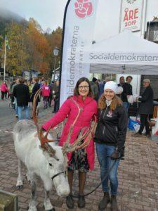 Jag, Frost och Gymnasie- och kunskapsminister Anna Ekström.