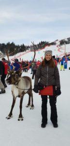 Ullis & Rudolf på event i skidbacken på Alpina VM 2019 i Åre.